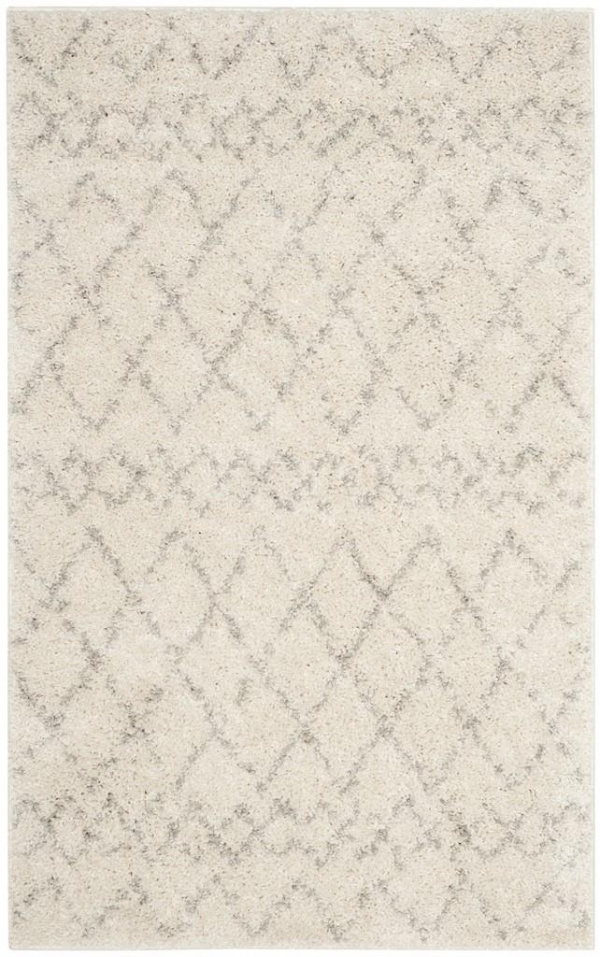 Berber Shag 165 Cream / Light Grey
