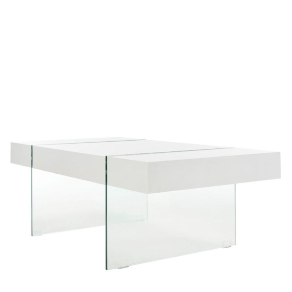 COF7001A Jacob Rectangular Glass Leg Modern Coffee Table
