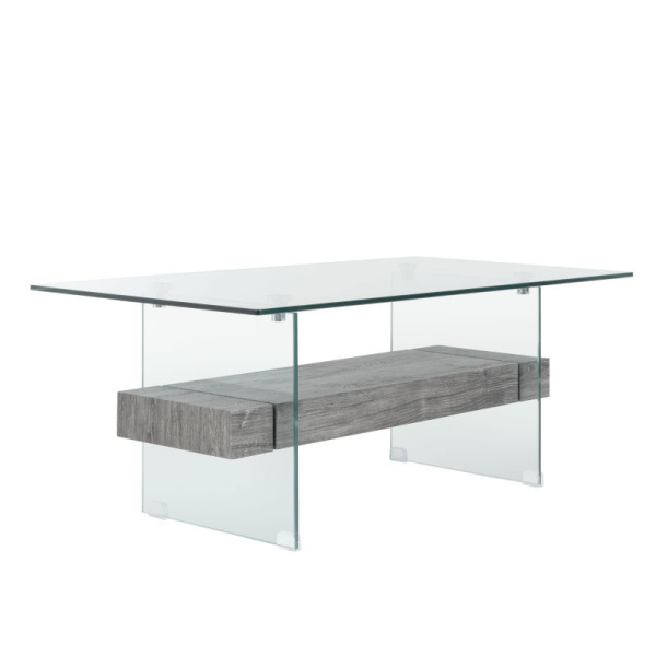 COF7004B Kayley Glass Coffee Table