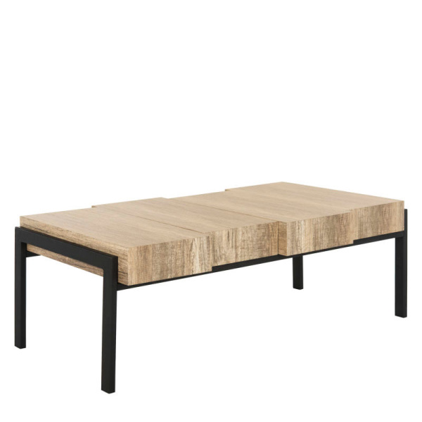 COF7005A Alexander Rectangular Contemporary Rustic Coffee Table