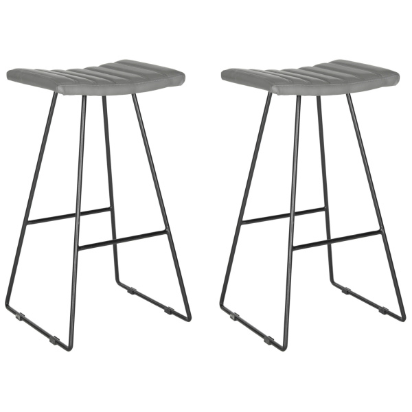 FOX2010C-SET2 Akito Bar Stool - Set of 2 Gray