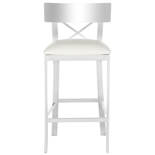 Zoey 35''h Stainless Steel Cross Back Counter Stool