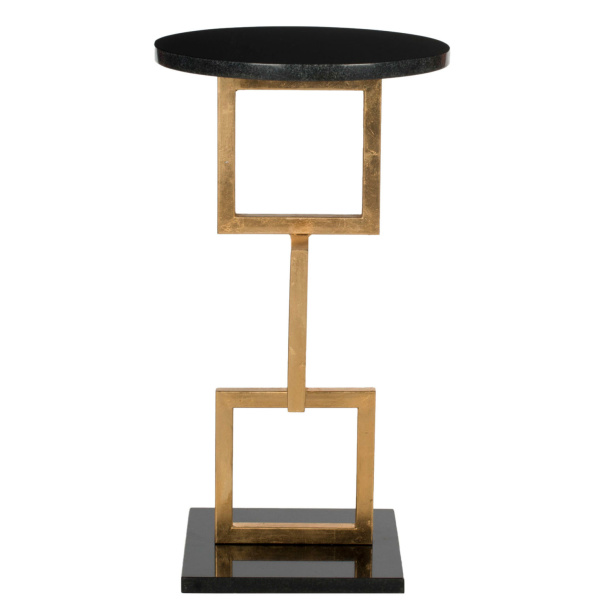 FOX2531A Cassidy Gold Leaf Accent Table