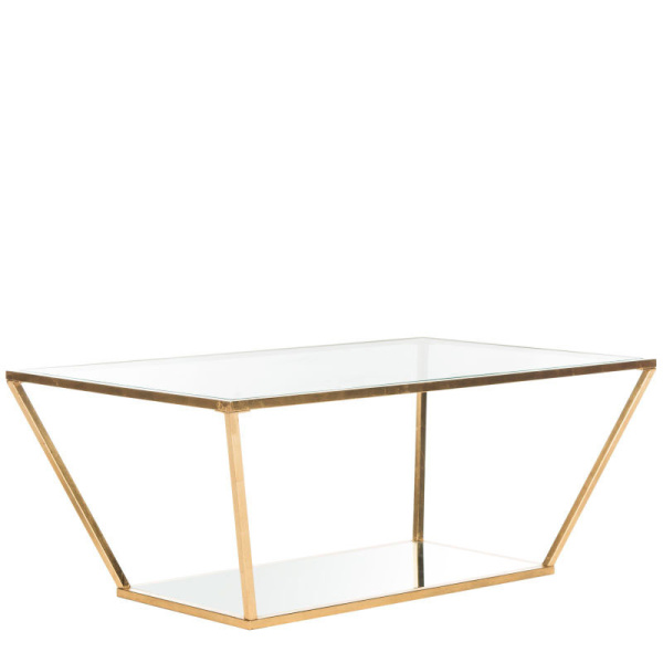 FOX2601A Allene Gold Leaf Retro Coffee Table