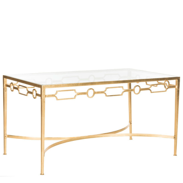 FOX2602A Lura Gold Leaf Retro Coffee Table