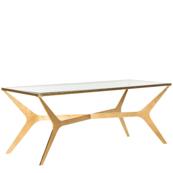 FOX2603A Edythe Gold Leaf Coffee Table