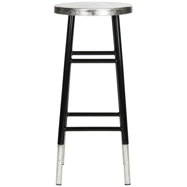 FOX3212A Kenzie 30h Silver Dipped Bar Stool