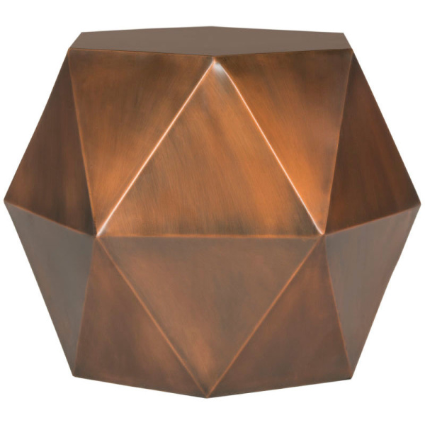 FOX3224A Astrid Faceted Side Table