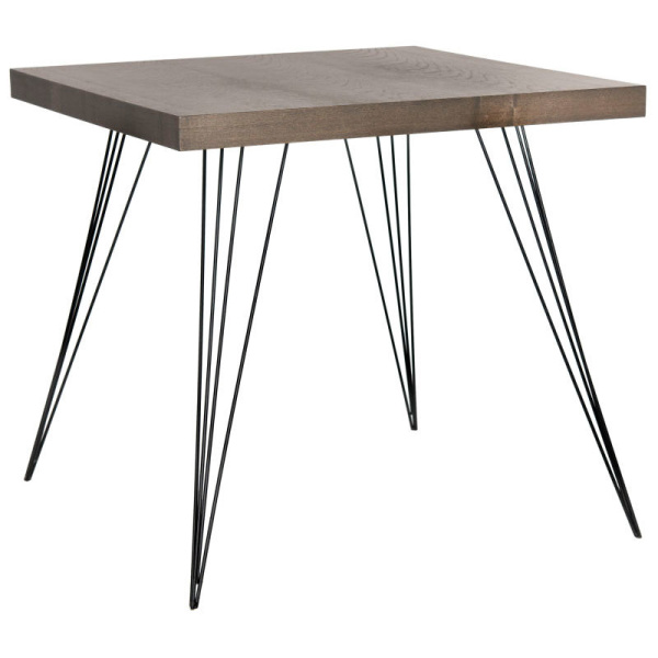 FOX4205B Wolcott Retro Mid Century Square Accent Table