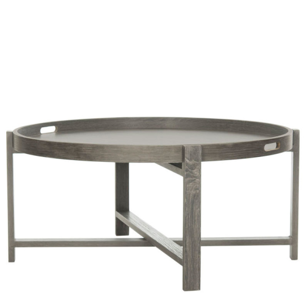 FOX4231A Cursten Retro Mid Century Wood Tray Top Coffee Table