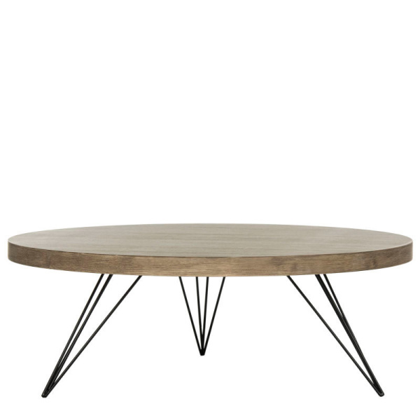 FOX4233A Mansel Retro Mid Century Round Coffee  Table