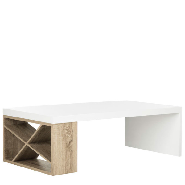 FOX4236A Carlton Modern Scandinavian Side Storage Lacquer Coffee Table