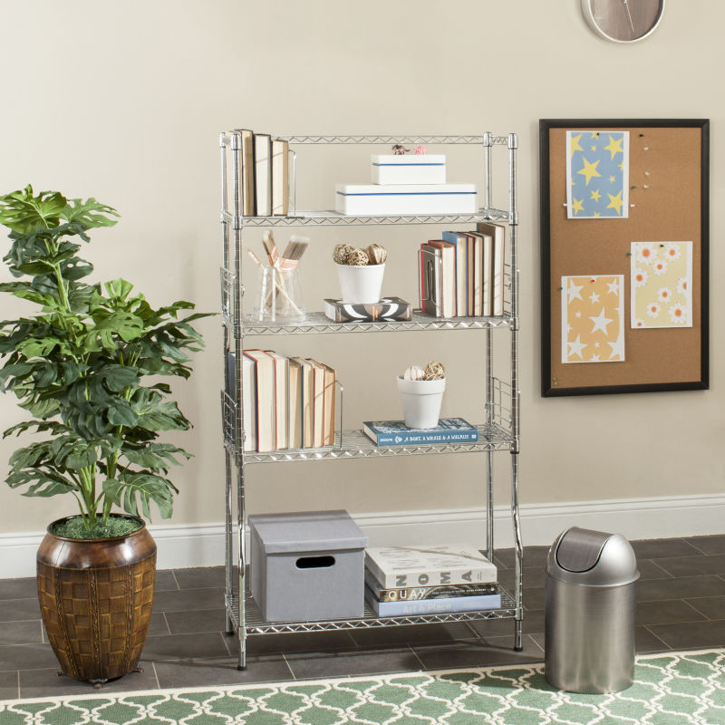 Fernand Chrome Wire Book Rack