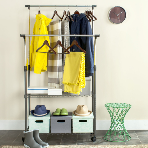 Giorgio Chrome Double Rod Clothes Rack
