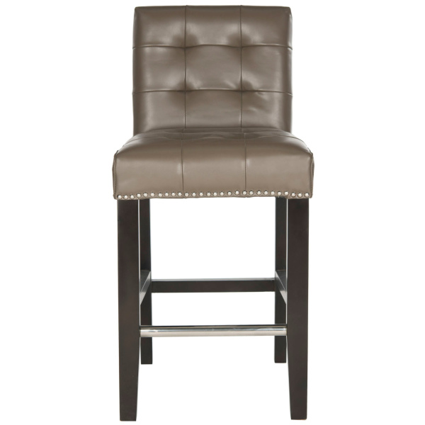 Thompson 23.9 Leather Counter Stool W/ Silver Nailheads