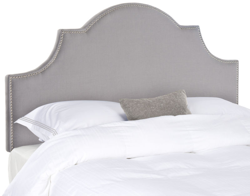 MCR4679C Hallmar Hemp Arched Full Headboard Silver Nail Head
