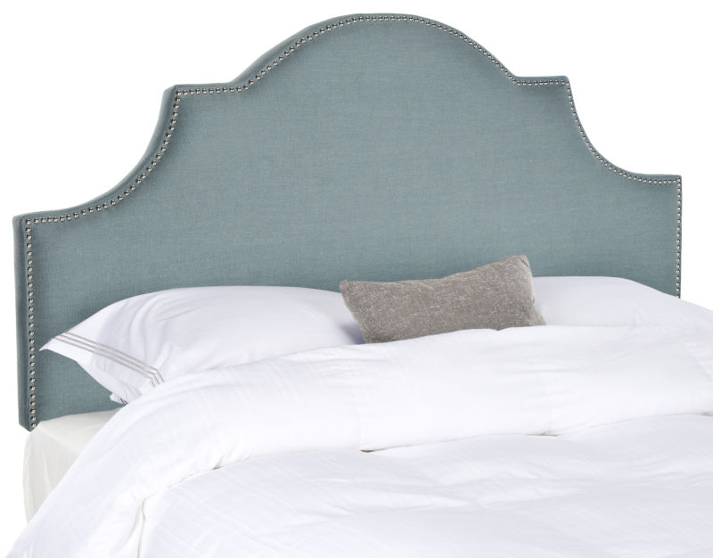 MCR4679D Hallmar Hemp Arched Full Headboard Brass Nail Head