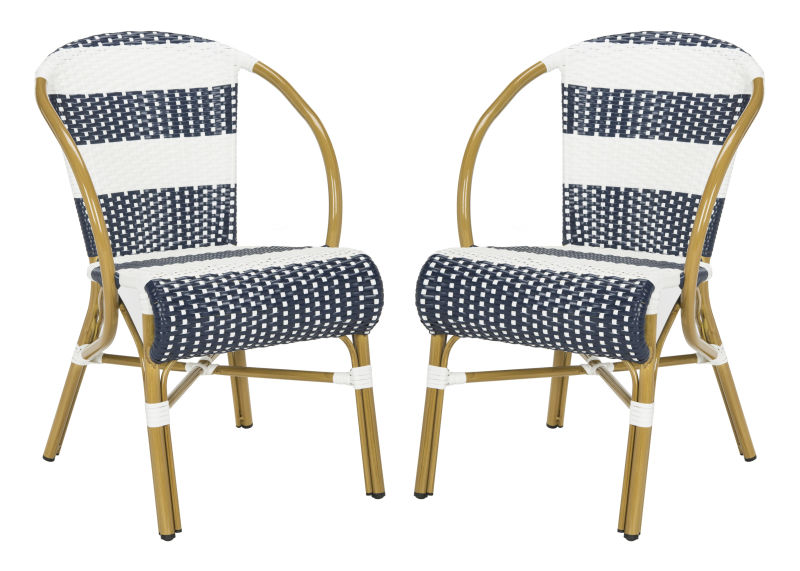 Sarita Striped French Bistro  Side Chair