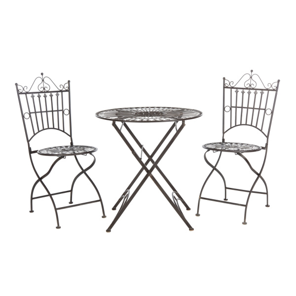 PAT5020B Belen Bistro Set, One Table And Two Chairs