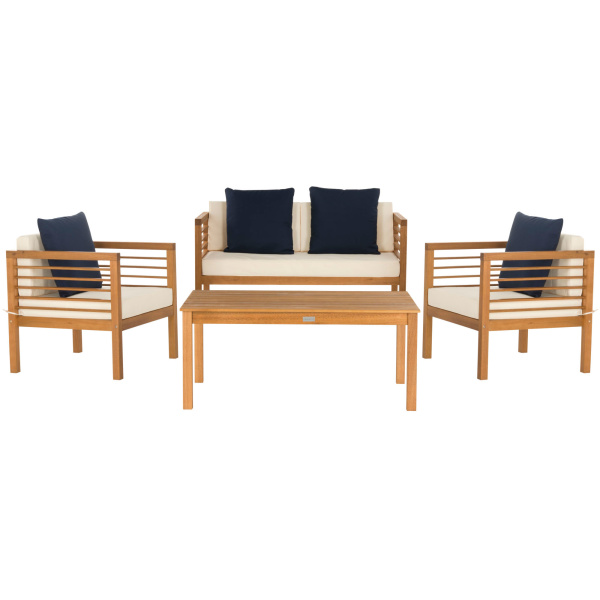 PAT7033A Alda 4 Pc Outdoor Set With Accent Pillows