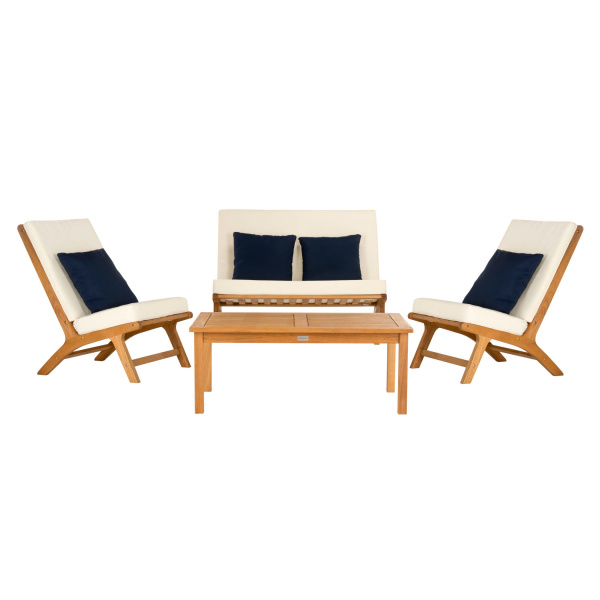 PAT7044A Chaston 4 Pc Outdoor Living Set With Accent Pillows
