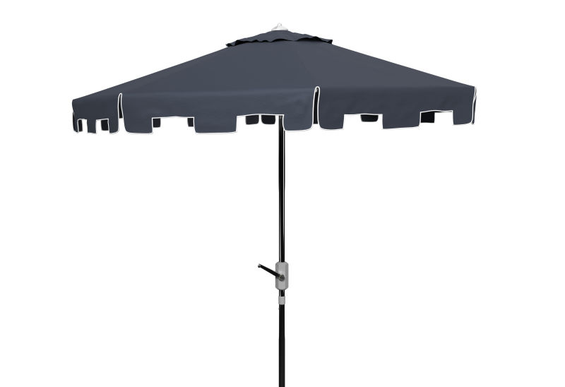 PAT8000L UV Resistant Zimmerman 9 Ft Crank Market Push Button Tilt Umbrella With Flap Nav