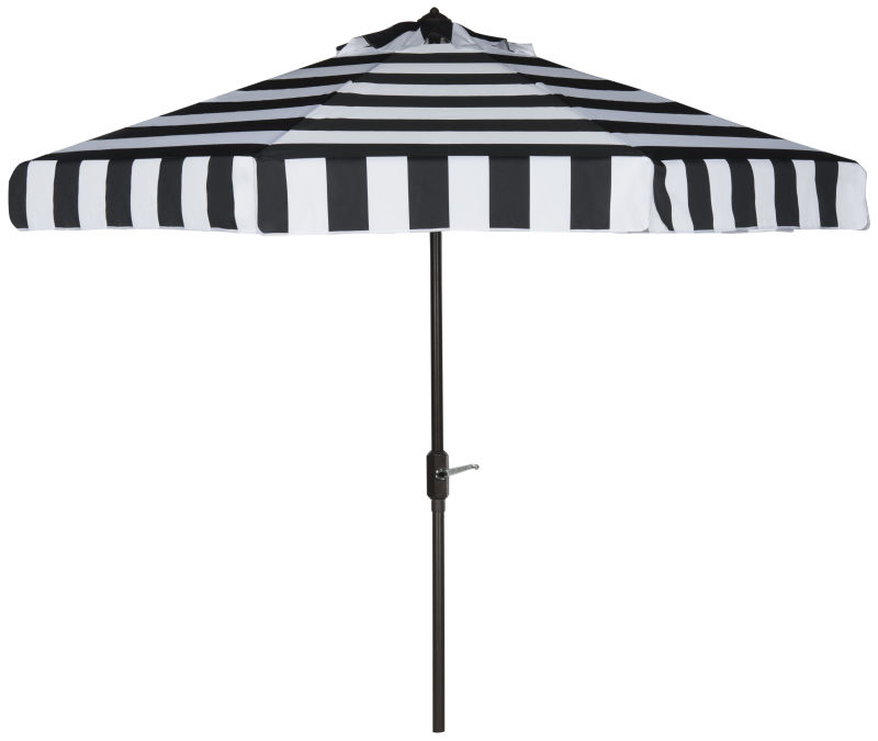 PAT8003A Uv Resistant Elsa Fashion Line 9ft Auto Tilt Umbrella Black/White