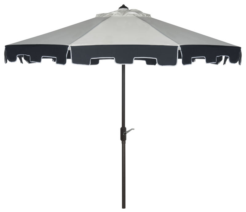 PAT8005A Uv Resistant City Fashion 9ft Auto Tilt Umbrella Beige/Navy