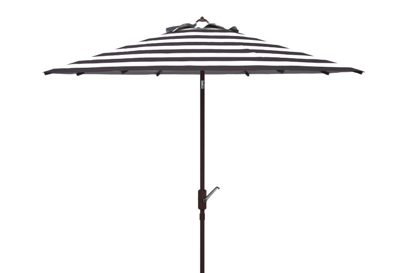 PAT8104A Iris Fashion Line 11ft Rnd Umbrella Black/White