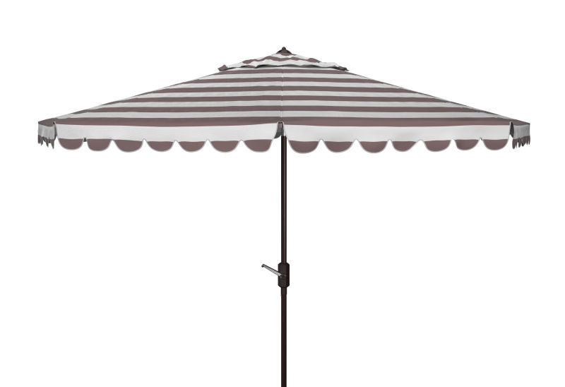 PAT8111B Vienna 11ft Rnd Crank Umbrella Grey/White