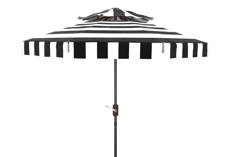 PAT8203A Elsa Fashion Line 9ft Double Top Umbrella Black/White