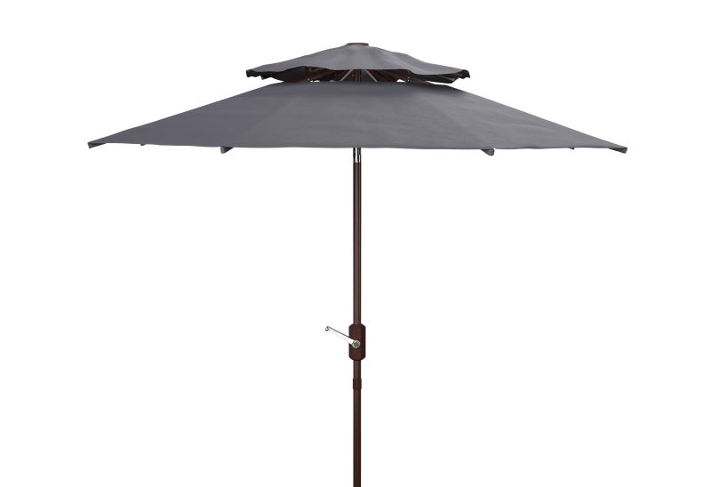 PAT8207A Athens 9ft Double Top Crank Umbrella Navy/White