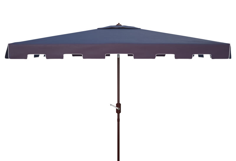 PAT8300A Zimmerman 6.5 X 10 ft Rect Market Umbrella Navy/White