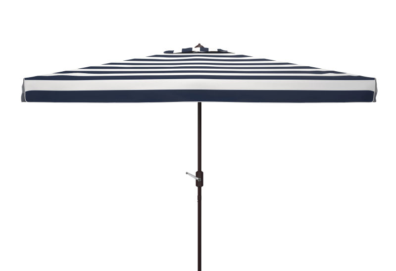 PAT8303A Elsa Fashion Line 6.5 x 10 ft Rect Umbrella Black/White