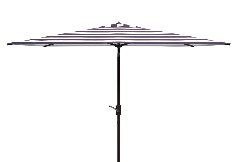 PAT8304A Iris Fashion Line 6.5 x 10 ft Rect Umbrella Black/White