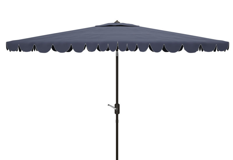 PAT8310A Venice 6.5 x 10 ft Rect Crank Umbrella Navy/White