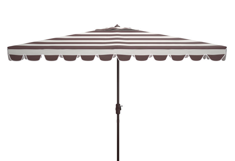 PAT8311B Vienna 6.5 X 10 ft Rect Crank Umbrella Grey/White