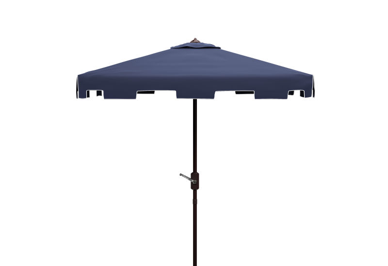 PAT8400A Zimmerman 7.5 Ft Square Market Umbrella Navy/White