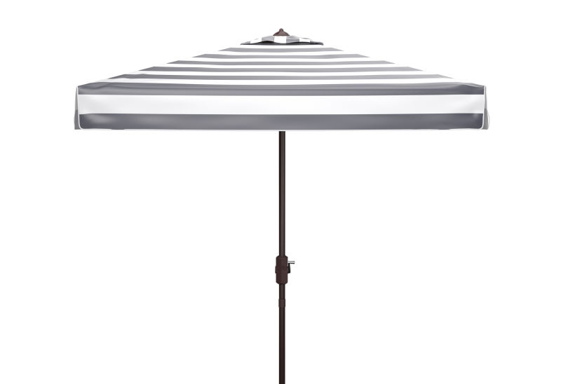 PAT8403A Elsa Fashion Line 7.5 Ft Square Umbrella Black/White