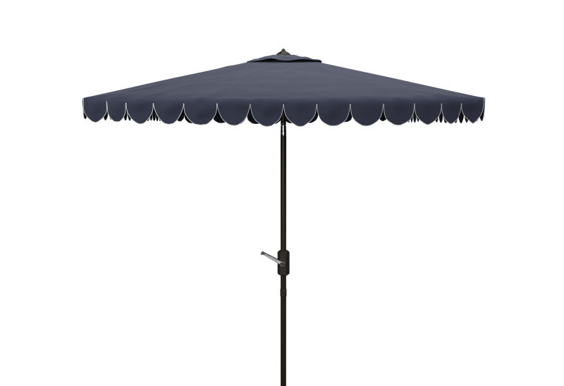 PAT8410A Venice 7.5 Ft Square Crank Umbrella Navy/White