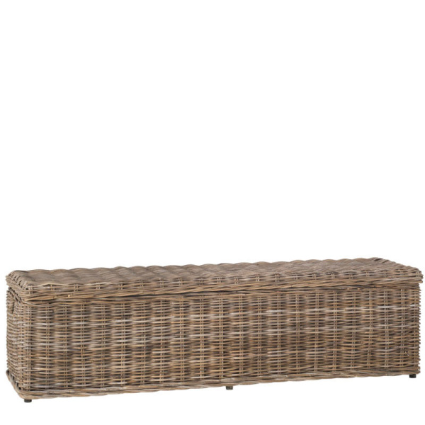 SEA7017A Caius Wicker Bench With Storage