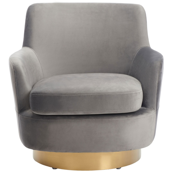 SFV4731C Pyrite Velvet Swivel Chair