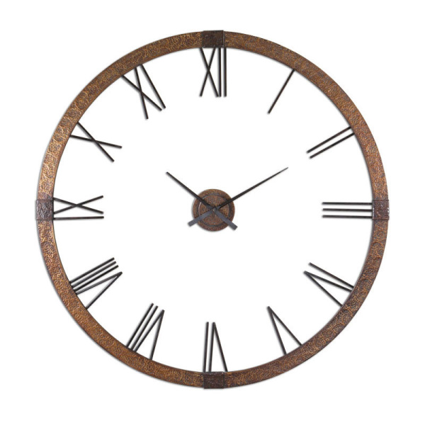 "06655 Uttermost Amarion 60"" Copper Wall Clock"