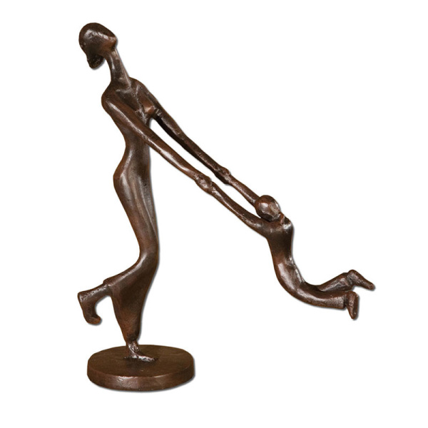 19445 Uttermost At Play Mother & Child Sculpture