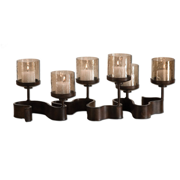 19731 Uttermost Ribbon Metal Candleholders