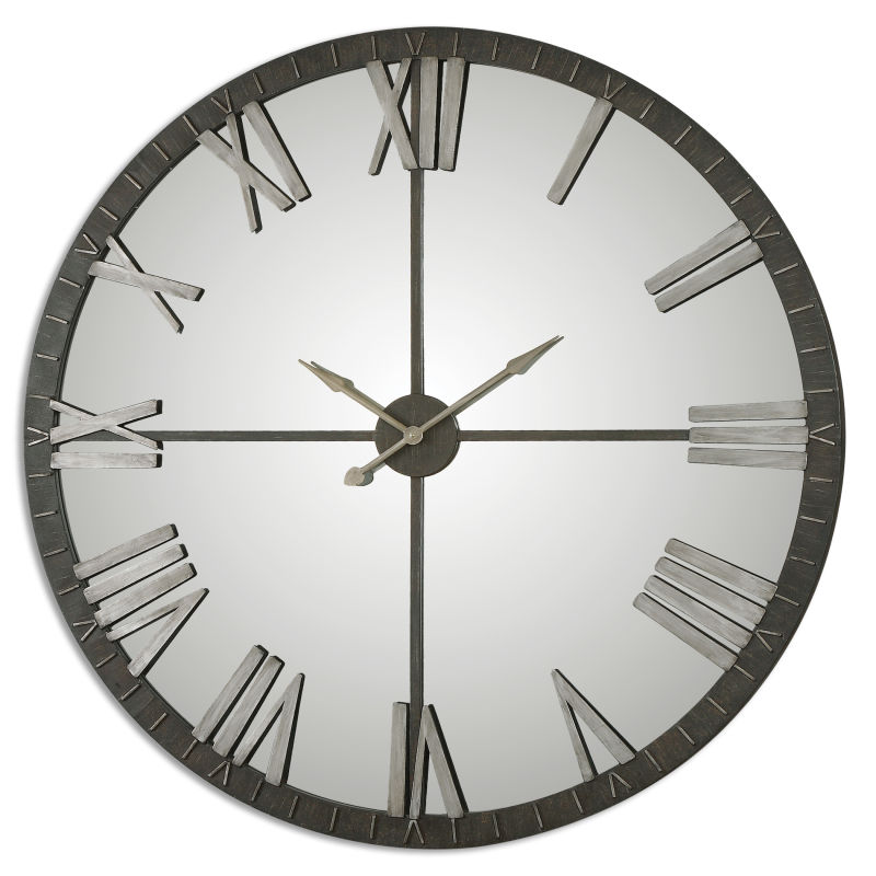 06419 Uttermost Amelie Large Bronze Wall Clock
