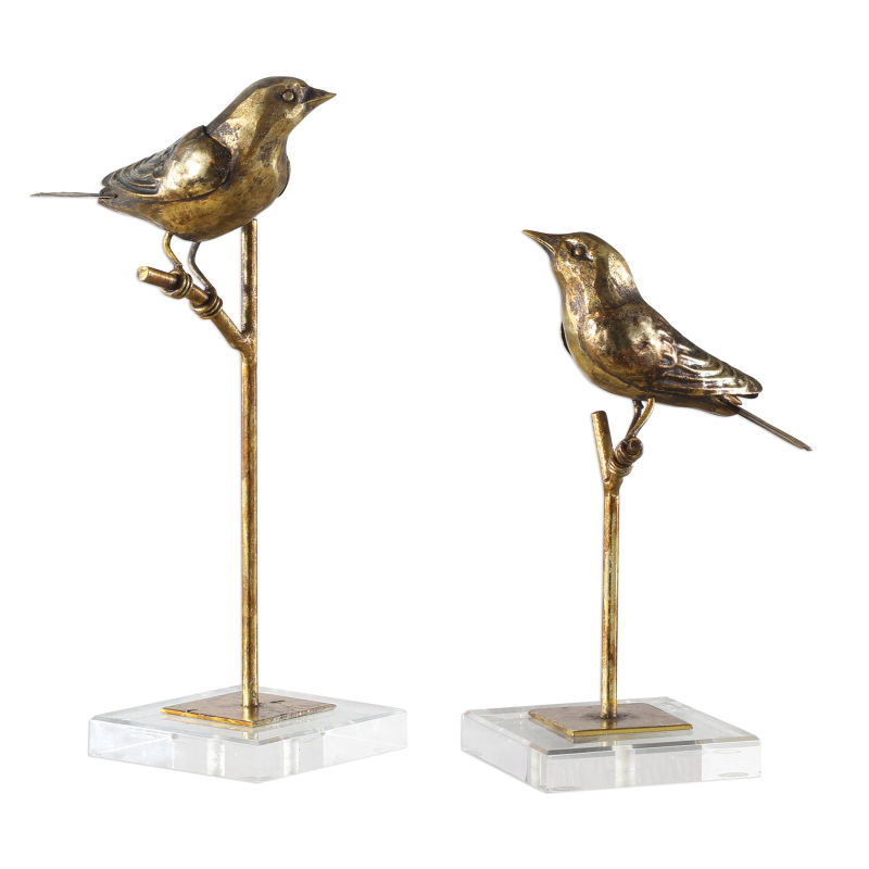 18898 Uttermost Passerines Bird Sculptures S/2