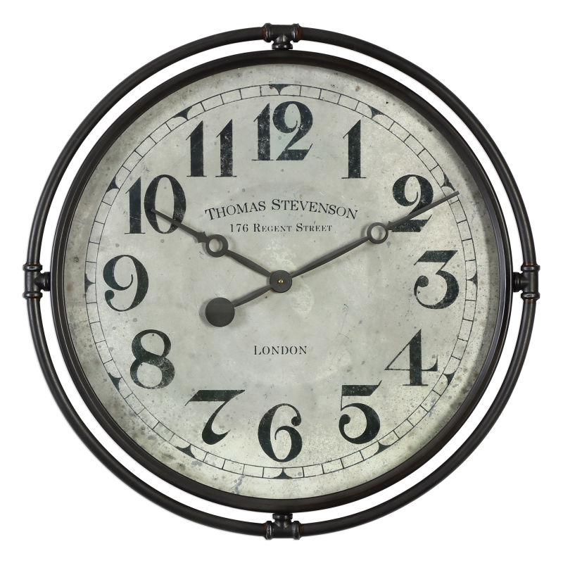 06449 Uttermost Nakul Industrial Wall Clock