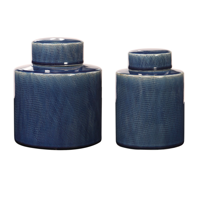18989 Uttermost Saniya Blue Containers, S/2