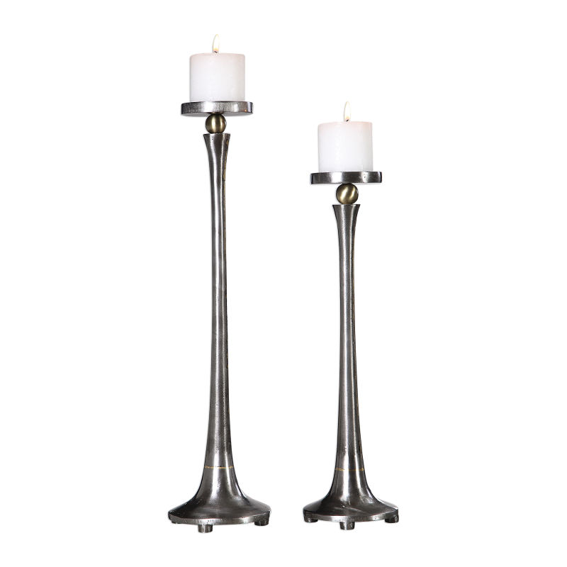 18994 Uttermost Aliso Cast Iron Candleholders Set/2